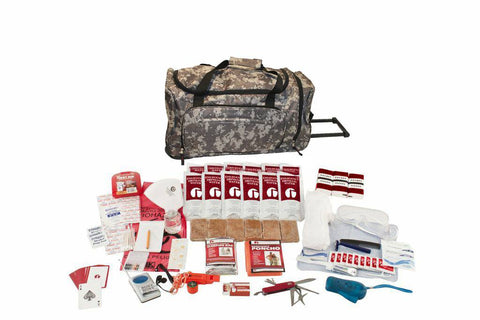 Guardian Deluxe Survival Kit in Camo Wheel Bag