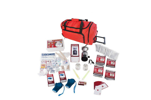 Survival Kit - Guardian Family Blackout Kit In Red Wheel Bag