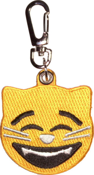 Smiling Cat Emoji Key Clip