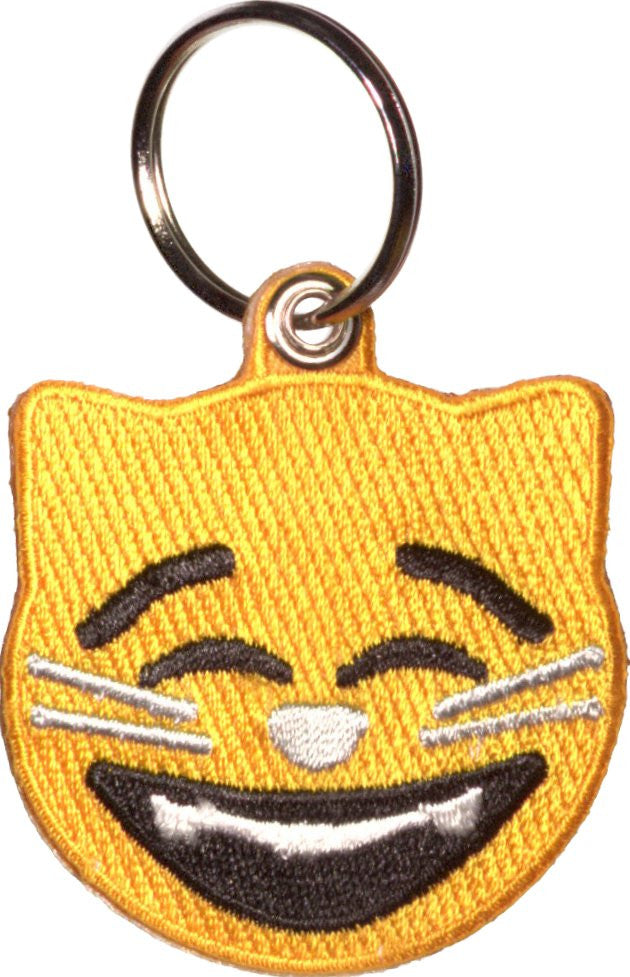 Smiling Cat Emoji Key Ring