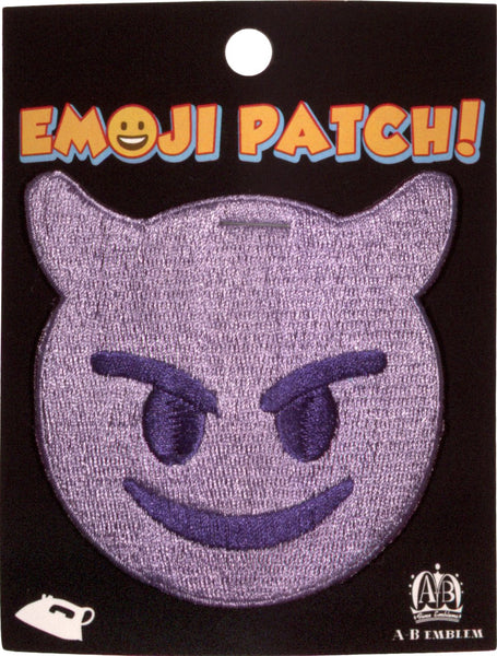 Purple Devil Emoji Iron-On Patch