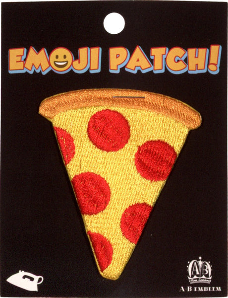 Pizza Emoji Iron-On Patch