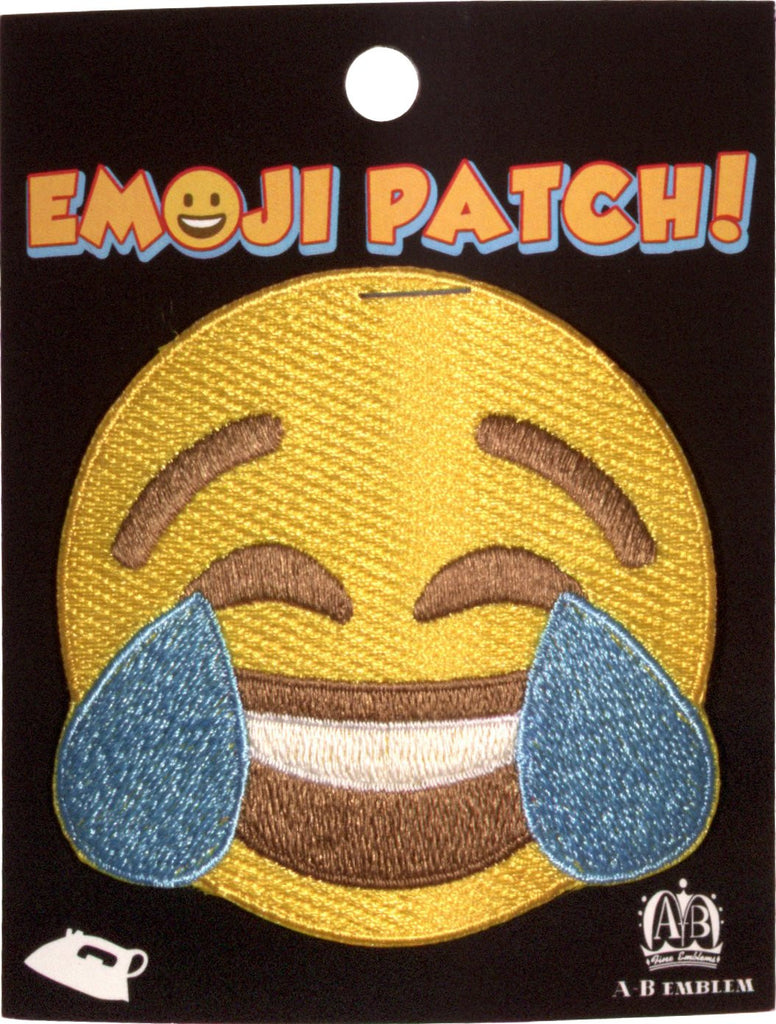 Laugh/Cry Emoji Iron-On Patch