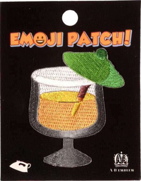 Cocktail Emoji Iron-On Patch