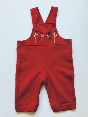 Red dungarees 6 months