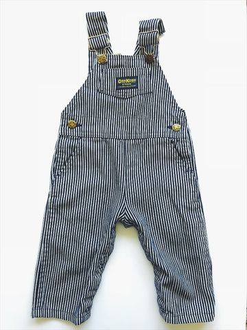 Osh Kosh pin stripe cotton overalls 12 - 18 months