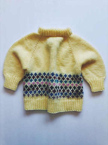 Hand knit sweater 2/3 years
