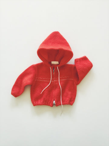 Red Hoody size - 6/12 months