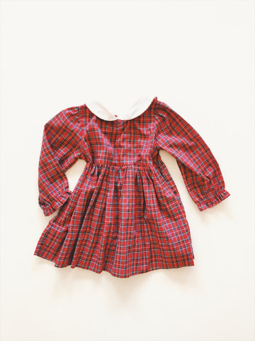 Red tartan dress - size 2/3 yrs