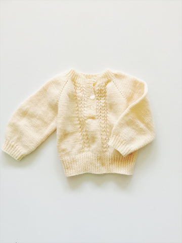 Cream hand knit sweater size - 18/24 months