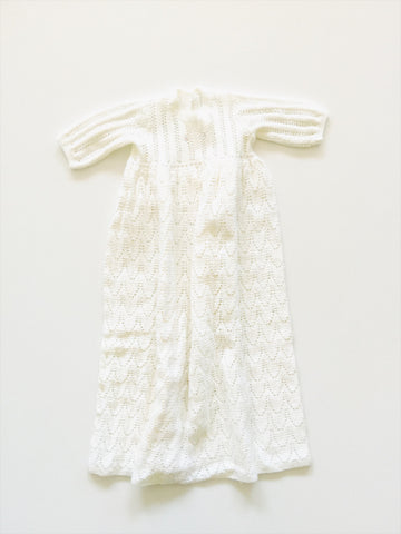 Hand knitted christening gown