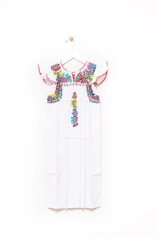 Niña Oaxaca Flutter Sleeve Dress - 4T-6/7