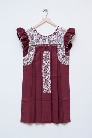 Oaxaca Ruffle Sleeve Dress - S/M