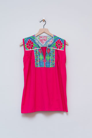 Punto De Cruz Hot Pink Top - S/M