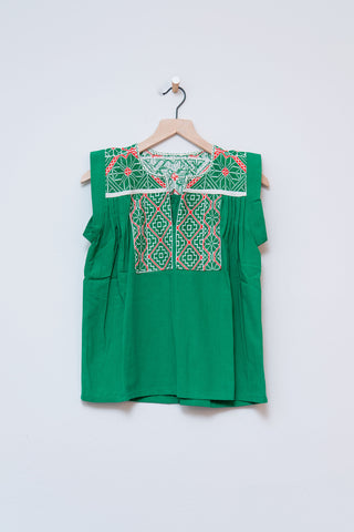 Punto De Cruz Green Top - S/M