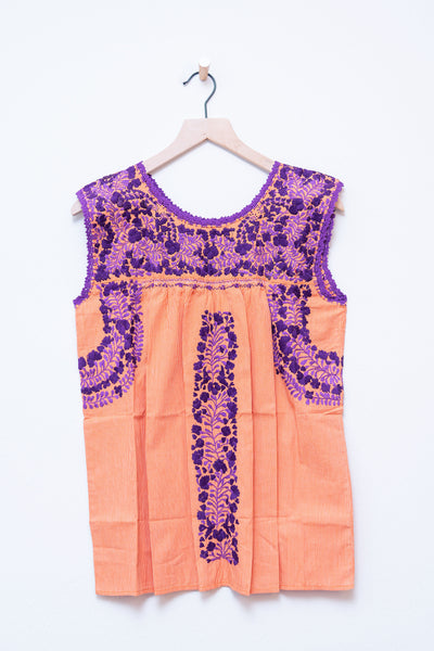 Oaxaca Orange Check & Purple Top