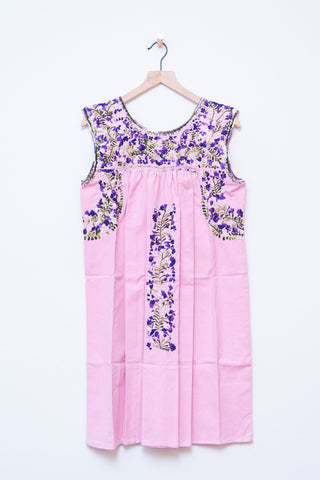 Oaxaca Pink & Purple/Green Dress