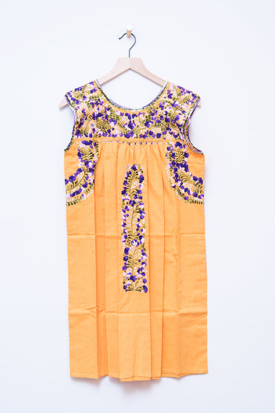 Oaxaca Orange & Purple/Green Dress