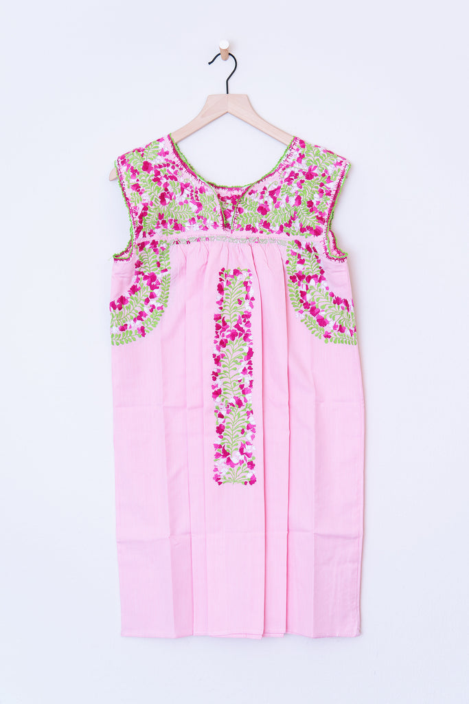 Oaxaca Pink Pin Stipe & Multi Color Dress
