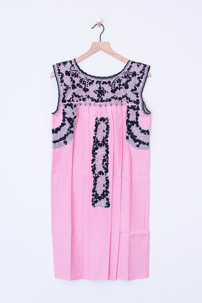 Oaxaca Pink & Black/Gray Dress