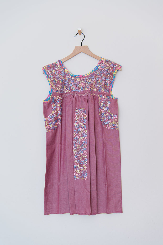 Oaxaca Pinkish/Purple and Mulit Color Dress