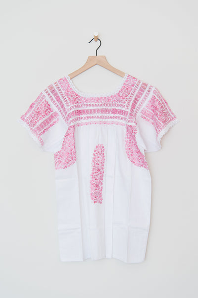 Lujoso White and Pink Top