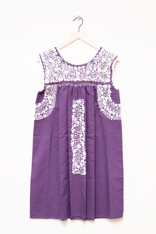 Oaxaca Purple Sleeveless Dress