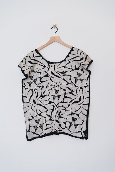 Black and Silver Pajarito Top