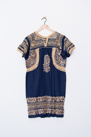 Lujoso Navy & Gold Dress