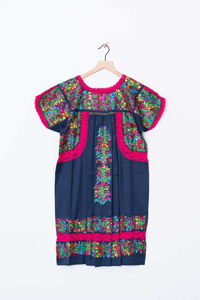Lujoso Navy & Multi Color Dress
