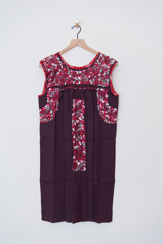 Oaxaca Maroon and Pink/Red Dress