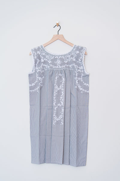 Oaxaca Gray Stripe and Gray/White Dress
