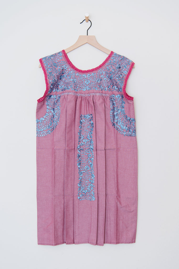 Oaxaca Pink/Purple and Silver/Blue Dress