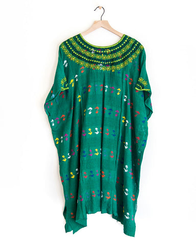 Dark Green Long Huipil