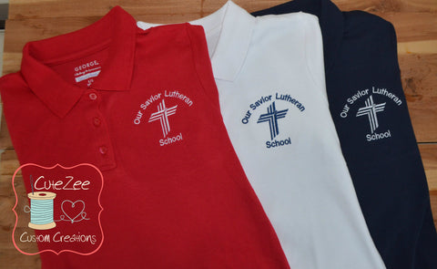 OSLS - Short Sleeve Polo Shirt with Logo Added