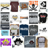 PIRATE BLING SAMPLE SALE - Adult Apparel