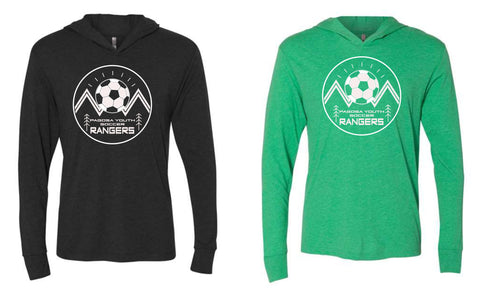 Pagosa Youth Soccer - Hooded Long Sleeve Tee