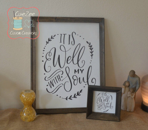 It is Well...With my Soul, Home Decor, Religious Saying, Decor, Art