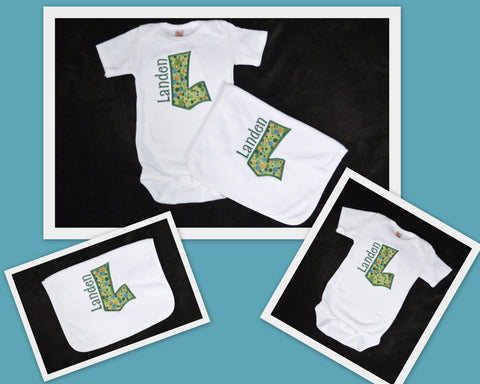 CUSTOM ORDER - Onesie & Burpcloth Set