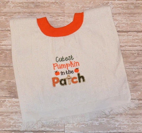 READY TO SHIP - Cutest Pumpkin in the Patch Pullover Bib
