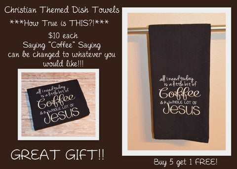 Christian Themed Dish Towel