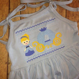 Ice Smocked Embroidery Dress