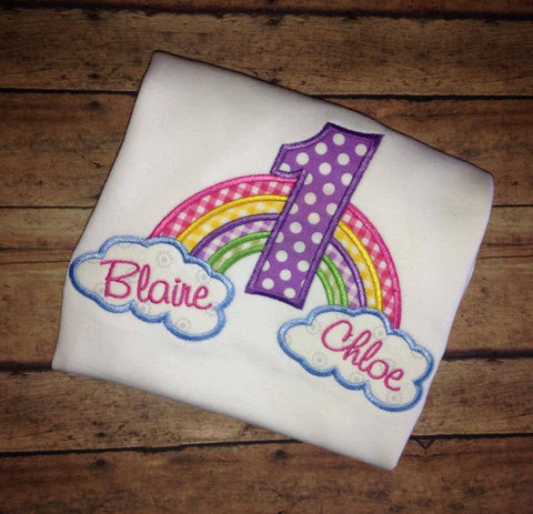 Rainbow Birthday Onesie/Shirt (Short Sleeve)