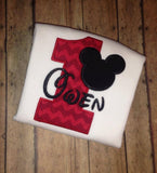 Mouse Ears Birthday Onesie/Shirt (Short Sleeve)
