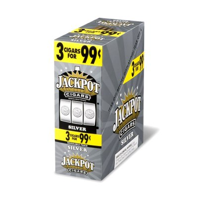 Jackpot Cigars - Blunt Wrap Cigar Cigarillos Silver For Sale