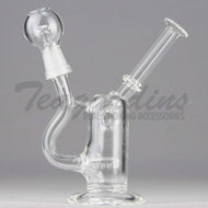 Teagardins Glass - D.I. Bubbler - Inline Percolator Diffuser Dab Rig - 5mm Thickness / 6