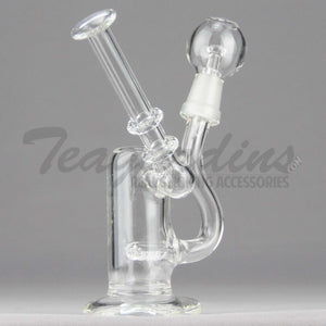 "Teagardins Glass - D.I. Bubbler - Inline Percolator Diffuser Dab Rig - 5mm Thickness / 6"" Height"
