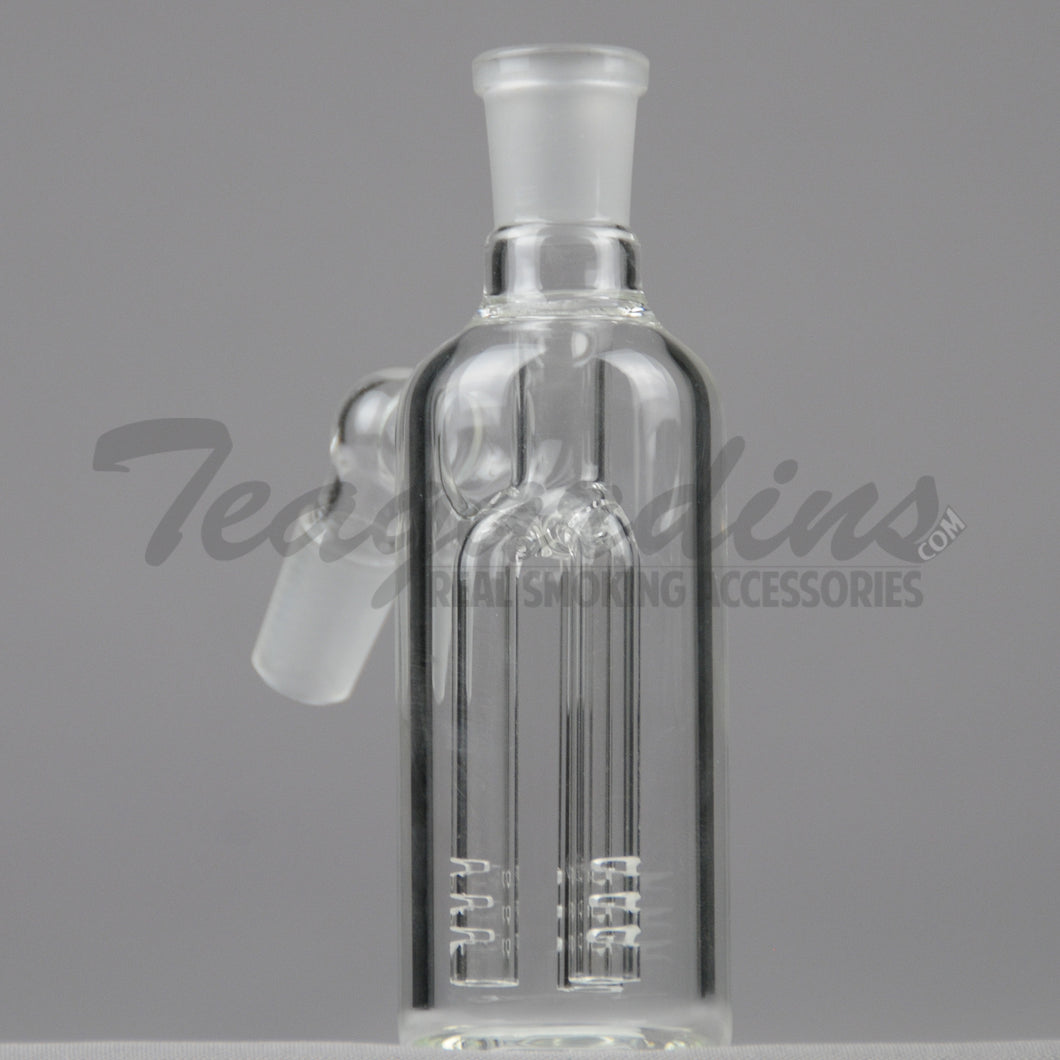 Teagardins Glass - Fixed Three Arm Tree Percolator Ash Catcher / Precooler - 45 Degree Arm / 5
