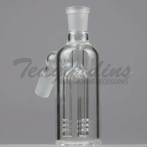 "Teagardins Glass - Fixed Three Arm Tree Percolator Ash Catcher / Precooler - 45 Degree Arm / 5"" Height"