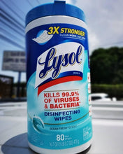 Load image into Gallery viewer, Lysol Disinfecting Wipes Ocean Fresh 80ct